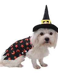 Pet Dog Clothes Hat Set Coat Cloak Costume For Halloween Party Cosplay Playing Magician Apparel