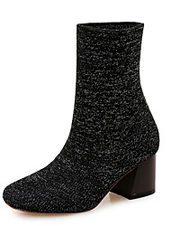 Women's Boots Winter Other Fabric Office & Career Dress Casual Chunky Heel Black Other