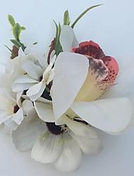 Свадебные цветы Лилии Бутоньерки Свадьба Партия / Вечерняя Атлас