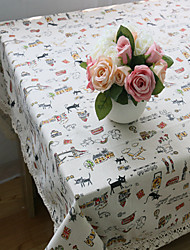 Rectangular Patterned / Animal Placemat , Cotton Blend Material Hotel Dining Table / Table Decoration