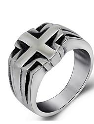 Ringe Hochzeit / Party / Alltag Schmuck Titanstahl Herren Ring 1 Stück,Eine Größe Gris
