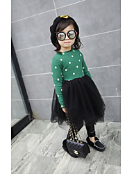 Girl's Casual/Daily Solid / Polka Dot Dress,Rayon / Nylon Winter