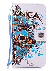 For Samsung Galaxy A710 A510 A310 A7 A5 A3 Skull Pattern PU Leather Full Body Case with Stand and Card Slot