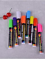 placas com brilho fluorescente 8 cor da caneta (8pcs)