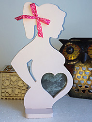 Wedding wooden photo frame furnishing articles Wedding props wooden photo frame pregnant women