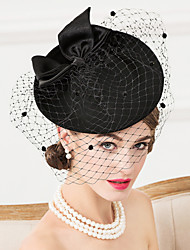 Women's Wool / Fabric / Net Headpiece-Wedding / Special Occasion / Casual Fascinators / Hats / Birdcage Veils 1 Piece