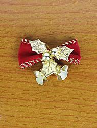1pc 5cm rouge noël arcs cloche de fer arc décoratif guirlande de noël décorations pour arbres de Noël (style aléatoire)