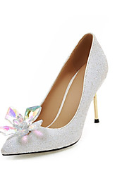 Women's Heels Spring Fall Leatherette Office & Career Casual Dress Stiletto Heel Gold Black Silver Blushing Pink