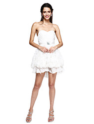 A-Line Sweetheart Short / Mini Chiffon Cocktail Party Homecoming Prom Dress with Brooch Ruching by TS Couture®