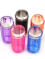 1Set  Candy Color 2.8cm Clear Jelly Silicone Nail Art Stamper Scraper