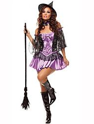 Sorcier/Sorcière Fête / Célébration Déguisement Halloween Violet Couleur Pleine Robe / BraceletHalloween / Noël / Carnaval / Le Jour des