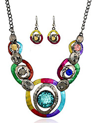 Dámské imitace Sapphire bižuterie 1 x náhrdelník 1 x pár náušnic Pro Párty Denní Ležérní Svatební dary