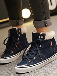 Women's Boots Winter Comfort Denim Casual Blue
