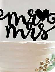 Acrylic wedding cake inserted fine English letters