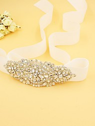 Satin / Alloy Wedding / Party/ Evening / Dailywear Sash-Rhinestone Women's 67in(170cm) Rhinestone