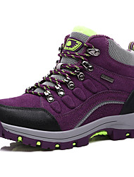 Outdoor climbing shoes to help high - velvet men and women walking shoes to the first layer of leather waterproof outdoor shoes