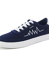 Men's Sneakers Spring Fall Comfort Fabric Casual Flat Heel Lace-up Black Blue Red White