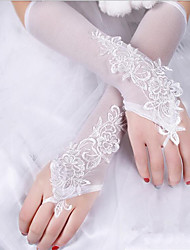 Bridal Gown Cheongsam Embroidered Gloves New Embroidered Lace Gloves
