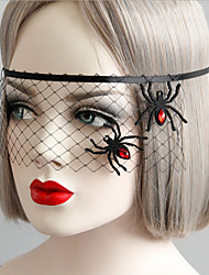 Spider princess party a Halloween party mask veil covering half face interest patch 1pçTiaras e Coroas / Decoração / Máscaras feriado