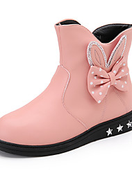 Girls' Boots Comfort Leatherette Casual Black Red Blushing Pink