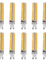 15W G9 Ampoules Maïs LED T 136 SMD 5730 1200-1400 lm Blanc Chaud / Blanc Froid Gradable / Décorative V 10 pièces