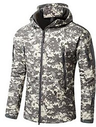Hiking Tops Men's Breathable / Thermal / Warm / Windproof Winter Memory Foam Camouflage S / M / L / XL / XXL / XXXLClimbing / Leisure