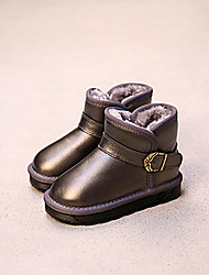 Girl's Boots Others Cowhide Casual Black / Gray