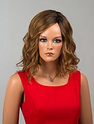 знаменитости средней длины монолитным парики естественная волна человеческих волос Ombre париков
