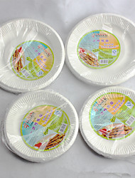 2PCS Disposable Cake Tray Outdoor Barbecue Tray Environmental Protection Plate Plate Thickening