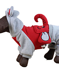 Dog Clothes/Jumpsuit Red Dog Clothes Winter / Spring/Fall Animal Casual/Daily / Keep Warm