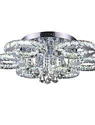 50 Flush Mount ,  Modern/Contemporary Chrome Feature for Crystal LED Metal Living Room Bedroom Dining Room