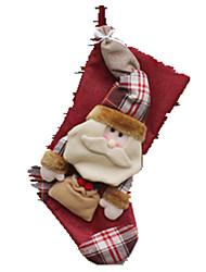Decoração Decoração Para Festas Ternos de Papai Noel / Elk / Boneco de neve Tecido / Algodão Para Meninos / Para Meninas 5 a 7 Anos