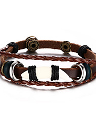 Bracelet Loom Bracelet Others / Leather Fashion / Personalized Gift / Daily / Casual / Outdoor Jewelry Gift Dark Brown / Multi Color,1pc