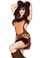 Costumes de Cosplay Animal Fête / Célébration Déguisement Halloween Marron Mosaïque Collant/Combinaison / Plus d'accessoires Noël Féminin