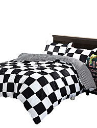 Mingjie Black and White Bedding Sets 4PCS for Twin Full QueenSize from China Contian 1 Duvet Cover 1 Flatsheet 2 Pillowcases