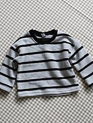 Unisex Casual/Daily Striped Hoodie & Sweatshirt,Cotton Winter / Fall Long Sleeve Short