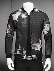Manteau Rembourré Hommes simple Sortie Galaxie-Coton Coton Manches Longues Noir