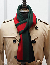 Men Acrylic Scarf,Cute RectangleStriped