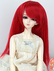 1/3 1/4 Bjd SD DZ MSD Doll Wig Accessories Long Straight Red Color Not for Human Adult