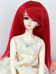 1/3 1/4 bjd sd dz msd accessoires de poupée perruque longue couleur rouge droite pas pour adulte humain