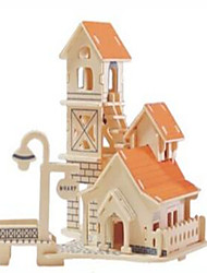 Puzzles Puzzles en bois Building Blocks DIY Toys Sphère / Bâtiment Célèbre / Architecture Chinoise 1 Bois IvoireMaquette & Jeu de
