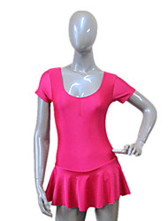 Balé Vestidos Mulheres / Crianças Treino Nailon / Licra Amarrotado 1 Peça Manga Curta Vestidos