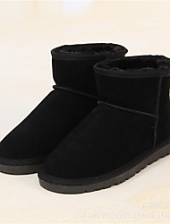 Women's Boots Leather Casual Black Coffee Navy Burgundy Flat