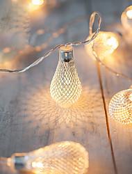 2m funcionamento da bateria aa cadeia led luzes cadeia de metal gotejamento luzes de natal navidad exterieur nataleguirlande luci