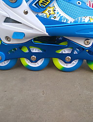 Full suit PU round children skates full flash Adjustable inline rollerblading roller skates skating shoes
