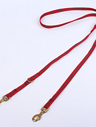 Dog Leash Adjustable/Retractable / Casual Stripe Red / Black / Yellow Fabric