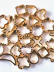 1PCS  Nail Art Metal Accessories Hollow Metal Ring