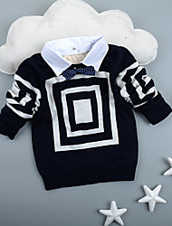 Unisex Casual/Daily / School Check Sweater & Cardigan,Cotton Winter Long Sleeve Short