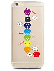 Pour Coque iPhone 7 Coques iPhone 7 Plus Coque iPhone 6 Motif Coque Coque Arrière Coque Jeux Avec Logo Apple Flexible PUT pour Apple