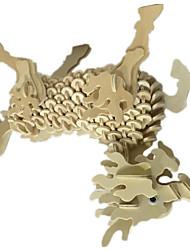 Quebra-cabeças Quebra-Cabeças 3D Blocos de construção DIY Brinquedos 1 Madeira Cáqui Modelo e Blocos de Construção